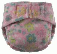 Fleece Wraps - Flowers on Pink, Medium