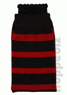 Hoppediz legwarmer - black/red stripe