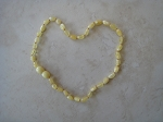 Cream, Oval Beads - 15 inches