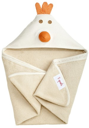 3 Sprouts Hooded Towel ~ Chicken