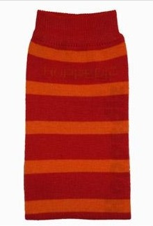 Hoppediz legwarmer - red/orange stripe