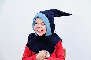 Mantoo All-in-1 Winter Hat - Navy/Blue